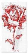 Red Rose Art 1 Bath Towel