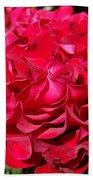 Red Rose Art Prints Big Roses Floral Bath Towel