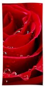 Red Rose Bath Towel