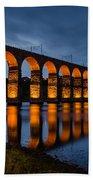 Red Royal Border Bridge Bath Towel