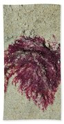 Red Seaweed Bath Towel