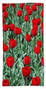 Red Spring Bath Towel