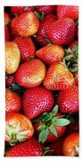 Red Strawberries Bath Towel
