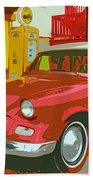 Red Studebaker Bath Towel