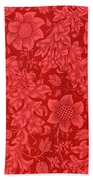 Red Sunflower Wallpaper Design, 1879 Bath Towel