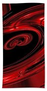 Red Swirl  Bath Towel