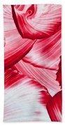 Red Swirls Background Bath Towel