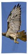 Red-tailed Hawk Takeoff Bath Towel