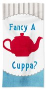 Red Teapot Hand Towel