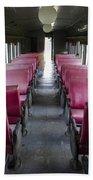 Red Train Seats Bath Towel