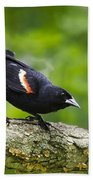 Red Winged Blackbird Bath Towel