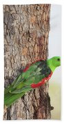 Red-winged Parrot Bath Towel