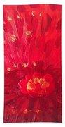 Red Zinnia Bath Towel