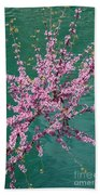 Redbuds Over San Antonio River Bath Towel