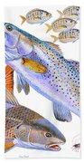 Redfish Trout Bath Towel
