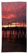 Redondo Beach Pier At Sunset Bath Towel