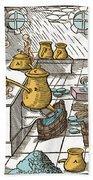 Refining Sulphur, 16th Century Bath Towel