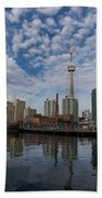 Reflecting On Toronto And Harbourfront  Bath Towel