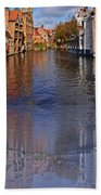 Reflection In Canal Bath Towel