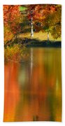 Reflection  Of My Thoughts  Autumn  Reflections Bath Towel