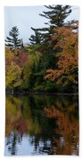 Reflection On The Raquette River Bath Towel