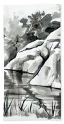 Reflections At Elephant Rocks State Park No I102 Bath Towel