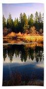 Reflections At Grace Lake Bath Towel