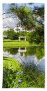 Reflections In A Tranquil Pond Bath Towel