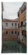 Reflections In Venetian Canal Bath Towel
