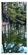 Reflections Of The Pine Bath Towel