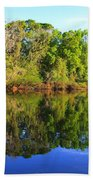 Reflections On The River Bath Towel