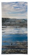 Reflections On The South Spit Bath Towel