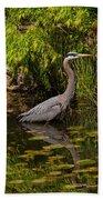 Reflective Great Blue Heron Bath Towel