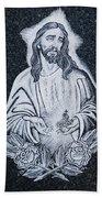 Religious Icons In Spanish Cemetery Bath Towel