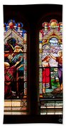 Religious Stained Windows Bath Towel