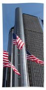 Rencen And Flags Bath Towel