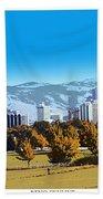 Reno Skyline From Rancho San Rafael Bath Towel
