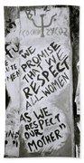 Respect Women Graffiti Bath Towel