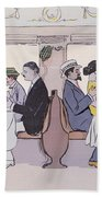 Restaurant Car In The Paris To Nice Train Hand Towel