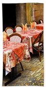 Restaurant Patio In France Hand Towel