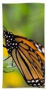 Resting Monarch Butterfly Bath Towel