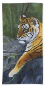 Resting Place - Tiger Cub Bath Towel