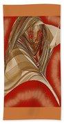 Resting Woman - Portrait In Red Bath Towel