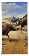 Restraint 2 Cowboys Roping A Steer Bath Towel
