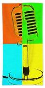 Retro Microphone Pop Art 2 Bath Towel