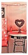 Retro Valentine Bath Towel