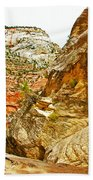 Return Trip On Hidden Canyon Trail In Zion National Park-utah Bath Towel