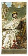 Rex Sacrificulus, Illustration Hand Towel