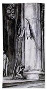 Rheims Cathedral, Scene From St Joan Bath Towel