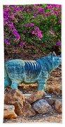 Rhino And Bougainvillea Bath Towel